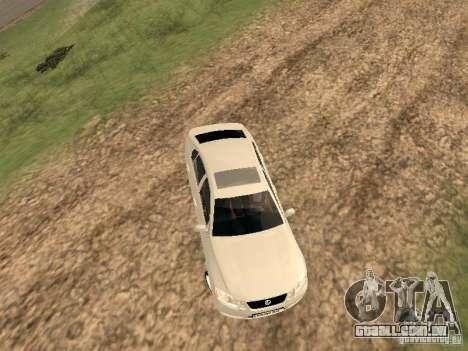 Lexus GS-350 para GTA San Andreas vista traseira