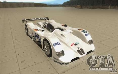 BMW V12 LeMans - Stock para GTA San Andreas vista traseira