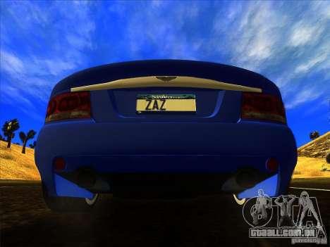 Aston Martin V12 Vanquish V1.0 para GTA San Andreas vista interior