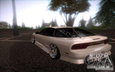 Nissan 240SX DriftMonkey para GTA San Andreas traseira esquerda vista