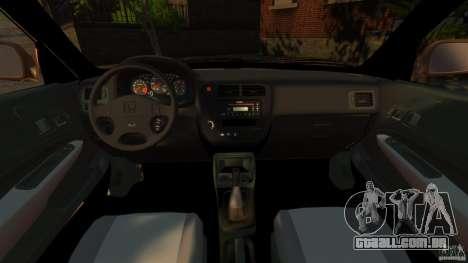 Honda Civic VTI para GTA 4 vista de volta