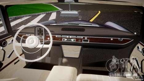 Mercedes-Benz W111 v1.0 para GTA 4 vista de volta