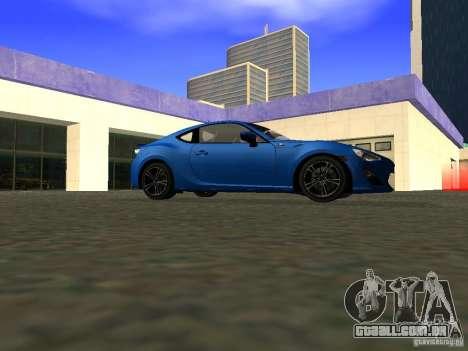 Toyota GT86 Limited para GTA San Andreas vista traseira