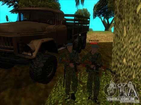 As tropas AEROTRANSPORTADAS! para GTA San Andreas
