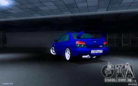 Subaru Impreza WRX STI para vista lateral GTA San Andreas