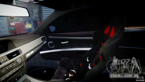 BMW M3 Hamann E92 para GTA 4 vista interior