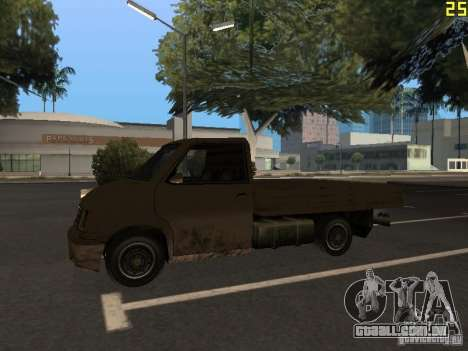 Moonbeam Pickup para GTA San Andreas vista traseira