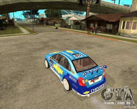 Chevrolet Lacetti WTCC para GTA San Andreas esquerda vista