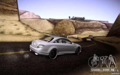 Mercedes Benz CL65 AMG para GTA San Andreas vista superior