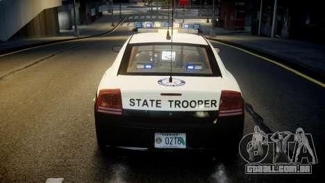 Dodge Charger Florida Highway Patrol [ELS] para GTA 4 vista inferior