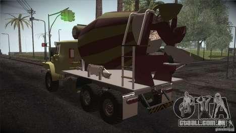 Ural 4320 betoneira para GTA San Andreas traseira esquerda vista