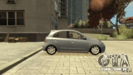 Nissan Micra para GTA 4 vista direita