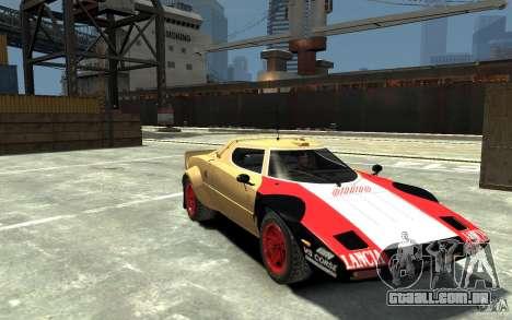 Lancia Stratos para GTA 4 vista de volta