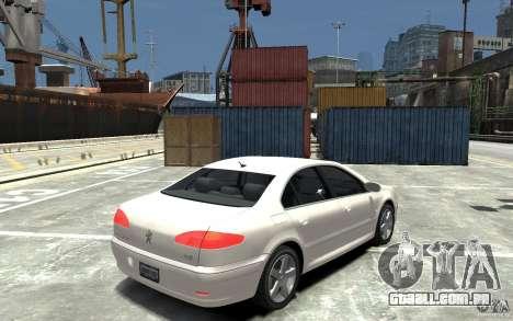 Peugeot 607 Sedan 2007 para GTA 4 vista direita