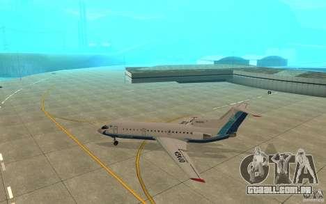 Yak-42 d Scat (Cazaquistão) para GTA San Andreas traseira esquerda vista