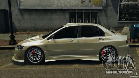 Mitsubishi Lancer Evolution VIII v1.0 para GTA 4 esquerda vista