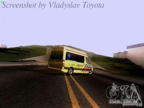 Mercedes-Benz Sprinter Ambulance para GTA San Andreas vista superior