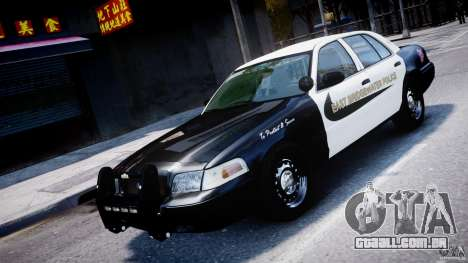 Ford Crown Victoria Massachusetts Police [ELS] para GTA 4 vista superior