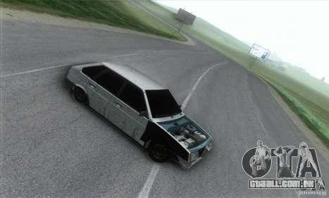 Vaz 2109 Hobo para GTA San Andreas esquerda vista