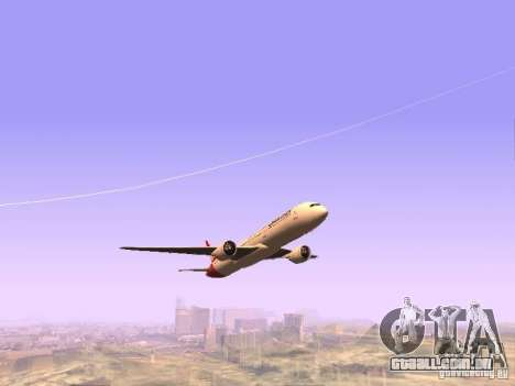 Boeing 787 Dreamliner Qantas para GTA San Andreas vista traseira