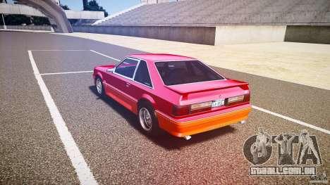 Ford Mustang GT 1993 Rims 2 para GTA 4 traseira esquerda vista