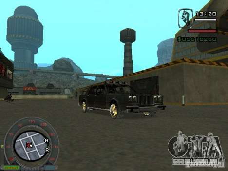 O novo Greenwood para GTA San Andreas vista direita