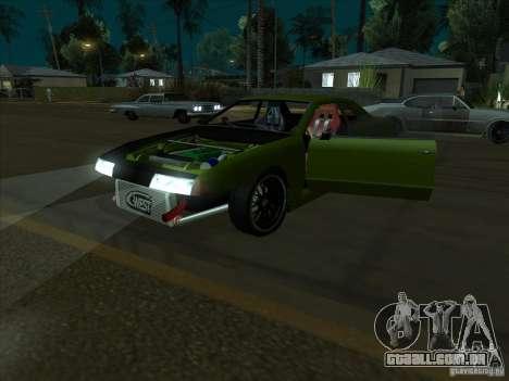 Elegy Green Line para GTA San Andreas vista traseira