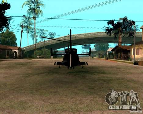 Airwolf para GTA San Andreas vista direita
