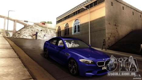 BMW M5 F10 2012 para GTA San Andreas interior