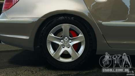 Honda Acura RL para GTA 4 vista lateral