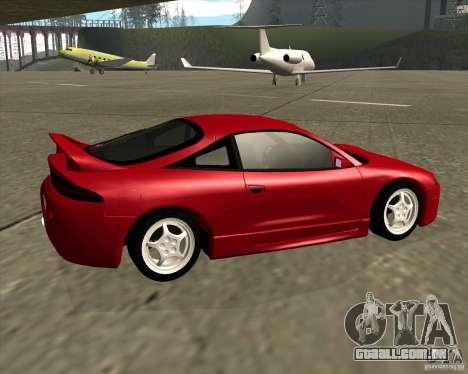 Mitsubishi Eclipse GS-T para GTA San Andreas traseira esquerda vista