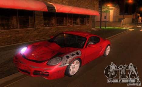 Porsche Cayman S para GTA San Andreas vista superior