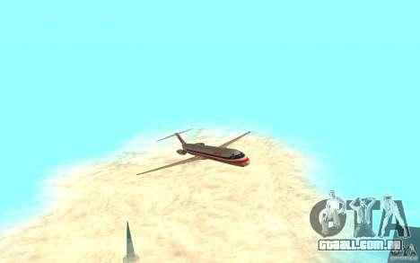 McDonnell Doeuglas MD-80 para GTA San Andreas esquerda vista
