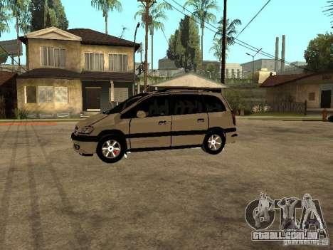 Opel Zafira para GTA San Andreas esquerda vista