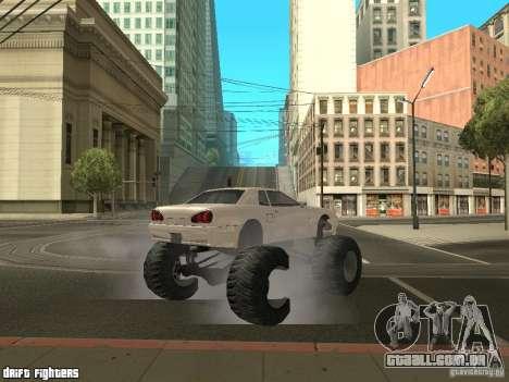 Elegy Monster para GTA San Andreas vista traseira