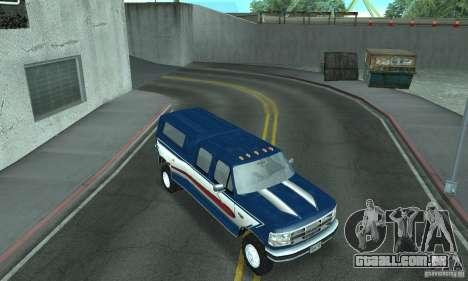 Ford F-350 1992 para GTA San Andreas interior