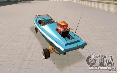 Hot-Boat-Rot para GTA San Andreas traseira esquerda vista