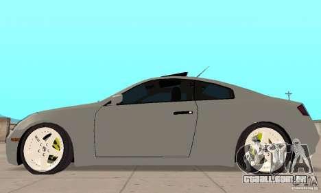 Nissan Skyline 350GT 2003 para GTA San Andreas traseira esquerda vista