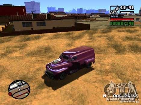49 Ford HR Van para GTA San Andreas vista traseira