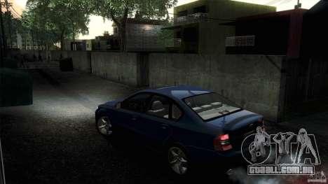 Subaru Legacy B4 3.0R specB para GTA San Andreas vista traseira