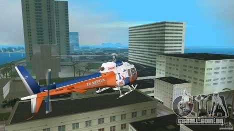 Eurocopter As-350 TV Neptun para GTA Vice City vista traseira esquerda