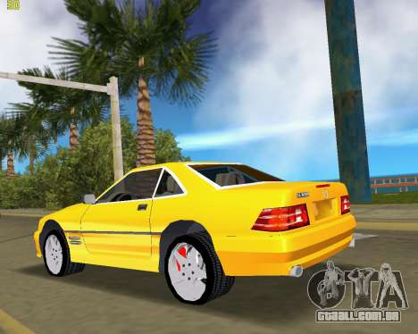 Mercedes-Benz SL600 1999 para GTA Vice City vista traseira esquerda