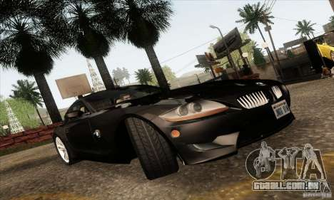 BMW Z4M para GTA San Andreas vista interior
