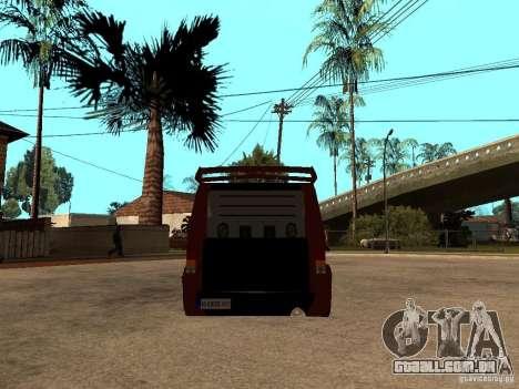 Ford Transit Tuning para GTA San Andreas traseira esquerda vista