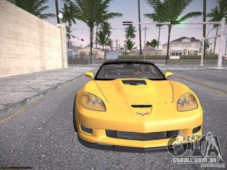 Chevrolet Corvette ZR1 para vista lateral GTA San Andreas