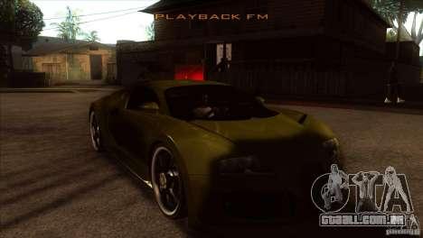 Bugatti Veyron Life Speed para GTA San Andreas vista traseira