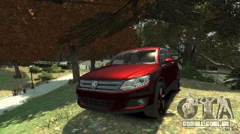 Volkswagen Tiguan 2012 para GTA 4 vista de volta