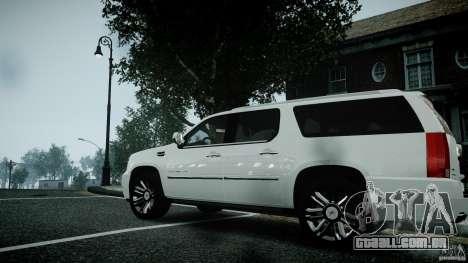 Cadillac Escalade ESV para GTA 4 vista direita