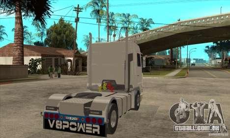 Scania 143M 500 V8 para GTA San Andreas vista direita