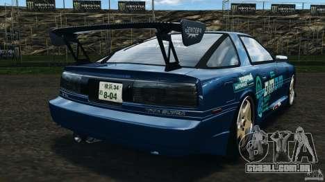 Toyota Supra 3.0 Turbo MK3 1992 v1.0 para GTA 4 traseira esquerda vista